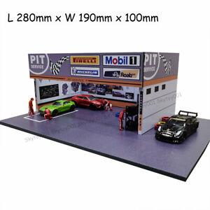 DIY 1/64 Diecast Car Model Diorama Maintenance Garage Scenery Repair Diorama
