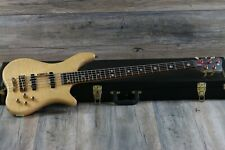 Warwick Katana 5 String Neck Thru 2006 Natural + Hard Case