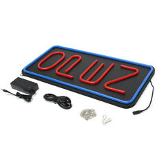 """Vertical Led Open Sign Red and Blue Led: Light Up Signs for Business 23.6""""X11.8"""""""