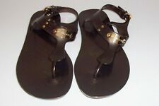 Michael Kors Brown Jelly Plastic Rubber Sandals Size 8 Shoes