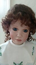 "Doll Wig,Sapphire 10-11"" medium brown , 100% mohair. Curls cascade & tendrils"