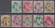 INDIA 1902-09 KEVII EDWARD OFFICIAL ISSUES TO 1r SCOTT O38-O46 USED