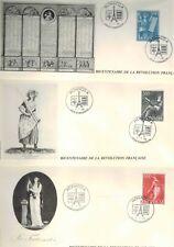 1989 - Enveloppes Série (3 VAL) -Bicentenaire/Revolution--Monaco-Yt.N°1688/90