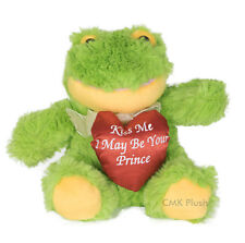 Heart Frog Stuffed Animal Plush Sitting Green Toy 7 inches