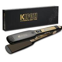 KIPOZI Salon Pro Hair Straighteners Flat Iron Titanium with 1.75 Inch Wide Plate