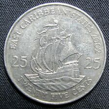 2002 North & Central America 25 Cents Coin