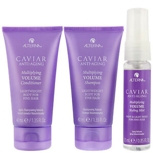 Alterna Caviar Multiplying Volume Travel Kit gift set - Shampoo, Conditio & Mist
