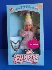 "1980S SUNRISE IN AMERICA DOLL ""BIRTHDAY"" 8"" VINYL MIB"