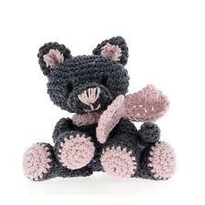 Kyra-Hoooked Diy Amigurumi Kitten Crochet Kit-Eco Barbante Cotton Yarn & Hook