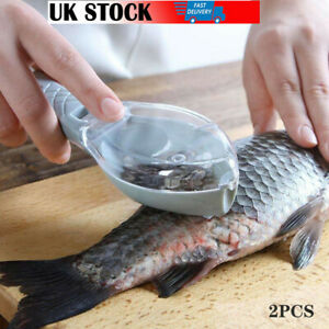Home Fish Scales Brush Shaver Remover Cleaner Descaler Scaler Kitchen Tool