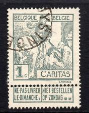 Belgium 1 Cent Stamp c1910 SPl  Used  (2836)