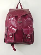 Handcrafted Backpack Small Purse Leather Fuschia