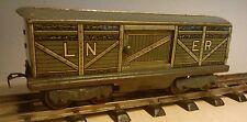 Schöner Spur 0 LNER 4-achsiger Güterwagen mit Schiebetüren made in England