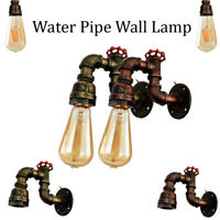 Vintage Loft Industrial Steam punk Wall Pipe Lamp Retro Light Wall Sconce Iron
