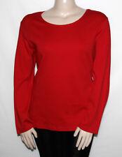 NEW Karen Scott Plus 2X Long Sleeves Sleeve Scoop Neck Top RED AMORE