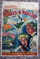 "Genuine Original 1947 ""Perils of Pauline"" Movie Poster~Betty Hutton~French"