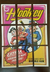 1974 Topps Wacky Packages 9th Series 9 Hookey Hockey Checklist Puzzle 9 Card Set