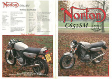 Sales Brochure Original Prospekt Norton C652SM the new International rare