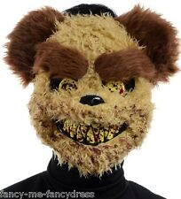 Homme effrayant halloween brown zombie teddy bear halloween fancy dress costume masque