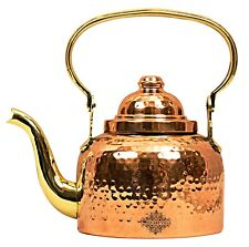 Hammered Designer Copper Tea Coffee Kettle Pot Tableware 1300 ml