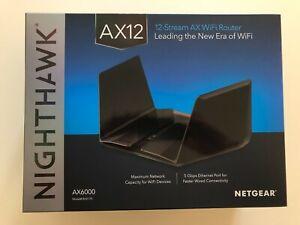 NETGEAR Nighthawk RAX120. 6 Ports 1000Mbps Wi-Fi Dual BandRouter AX6000