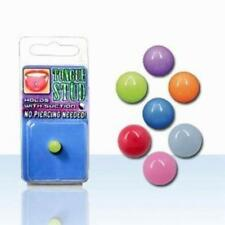 1-4PC Fake Tongue No Piercing UV Glow In The Dark Illusion Stud Suction Hold Set