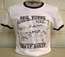Neil Young 'Zuma' 'crazy Horse'  Black/White Ringer T-Shirt
