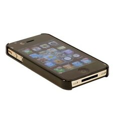 Combo of Clear Black hard Case for iPhone4 4S+front back screen protector+earphn