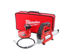 Milwaukee M12 Cordless Grease Gun Kit Battery Charger Toolbag Air Bleeder Valve
