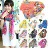 Women Floral Warm Soft Voile Long Scarf Stole Shawl Neck Wrap Scarves Xmas Gifts