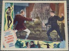 THE WIFE OF MONTE CRISTO 1946 ORIG. 11x14 LOBBY CARD! JOHN LODER SWORDFIGHTING!