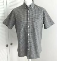J.Lindeberg Checked Shirt Size XL Slim Fit Short Sleeve Button Down Collar Plaid