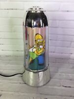 The Simpsons Motion Lamp Rotating Light Up Glows Family Home Scene WORKS