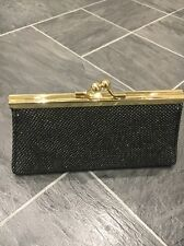 NEXT SMALL BLACK SPARKLY GOLD CLASP COIN PURSE