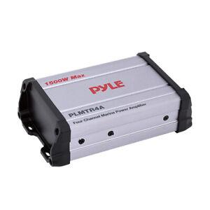 Pyle PLMTR4A Waterproof 1500 W 4 Channel Marine Power Audio Amplifier for Boats