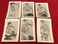 Lot Of (6) Original 1950s Amateur Snapshot Nude Girlie Risque Pinup Torture