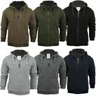 Mens Hoodie Sweatshirt Jumper Brave Soul 'Zone' Hooded Sherpa Lined