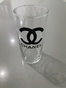 chanel vase clear glass gift wrap