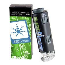 420 Scope Handheld Science Microscope 60-100X Zoom w/ Bright LED Light