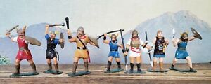 VTG Lot Marx Warriors of the World Vikings 60mm Figures Soldiers Set of 7