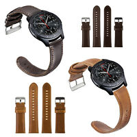 Gear S3 Frontier/Galaxy Watch 46mm Bands Quick Release,22mm Leather Replacement