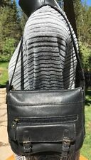 Fossil Wome's Black Leather Small Shoulder Satchel Handbag