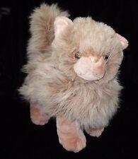 "Walmart Tan Standing Plush Kitty Cat Stuffed Animal Soft Toy Beige 11"""