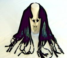 scarf knitted polyester girl owl charm jewelry women long fringe bead