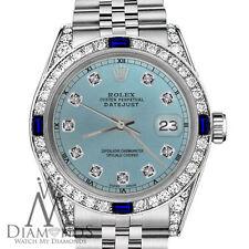 Rolex 26mm Datejust Ice Blue Dial with Sapphire & Diamonds Bezel Accent RT Watch