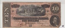 $10 1864 Confederate Currency Csa Lot 4