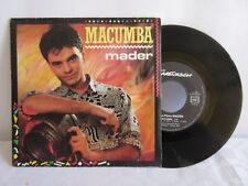 "JEAN PIERRE MADER -MACUMBA / L'AN 2000- 1985 FRENCH 7"" SINGLE PS CHANSON"
