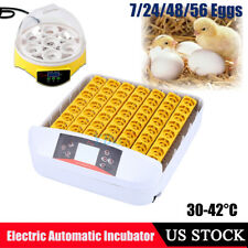 7 24 48 56 Digital Egg Incubator Automatic Hatcher Temperature Chicken Duck Bird