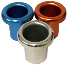 E-Tech Silver Alloy Cold Air Feed Funnels Ends Pair 46mm Diameter Base, 70mm End