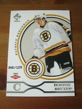 2003 04 Private Stock Reserve #104 Patrice Bergeron - Bruins Rookie Card #'d  XX